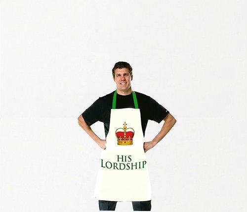 """Кухонный фартук с надписью """"Его Величество"""" (100% хлопок)"""